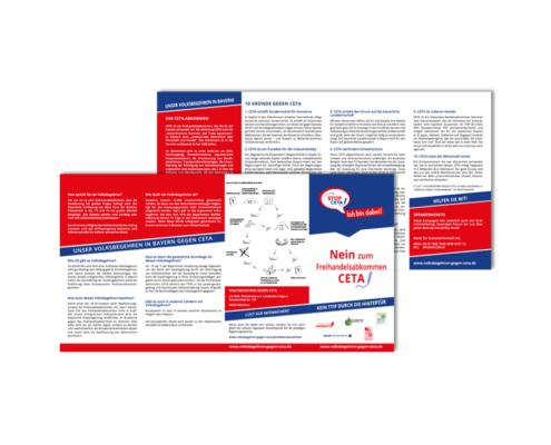 Argumenteflyer: Volksbegehren in Bayern gegen CETA