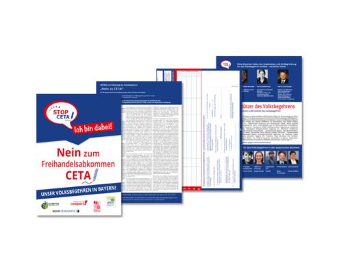 Unterschriftenliste: Volksbegehren in Bayern gegen CETA