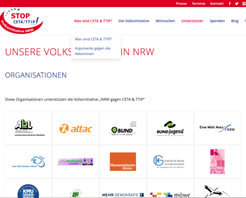 Website: Unsere Volksinitiative in NRW